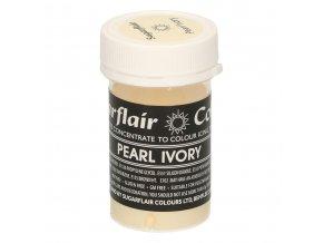Pastelová gelová barva Sugarflair (25 g) Pearl Ivory