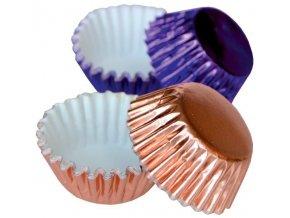 Alvarak hliníkové košíčky na pralinky fialové a růžové (50 ks)