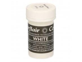 Pastelová gelová barva Sugarflair (25 g) White