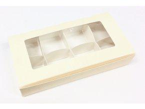 Krabička na pralinky 16 x 8 cm (na 8 kusů)