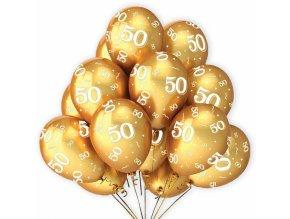 Alvarak Balónky zlaté k 50. výročí (7 ks)