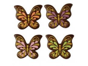 Čokoládová dekorace Motýlci z tmavé čokolády (112 ks)