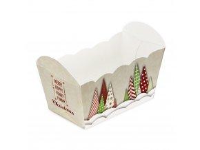 Städter obdélníkový košíček na pečení Yummy Christmas (10 ks)
