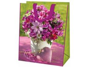Alvarak nákupní taška Růžová květina