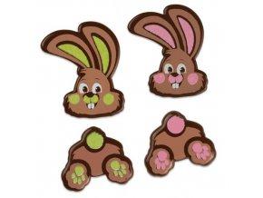 Čokoládová dekorace Zajíčci (8 ks)
