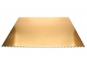 Tác zlatý hrubý vlnka obdélník 31 x 41 cm (5 ks)