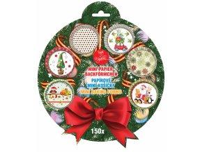 Alvarak papírové košíčky na pralinky Vánoční sada č. 3 (150 ks)