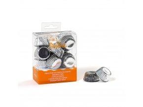 Košíčky na bonbony stříbrné 27x17mm - Decora