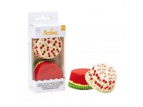 Košíčky na muffiny 36ks třešně a meloun - Decora