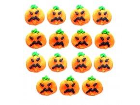 Cukrová dekorace - Halloweenské dýně 15 ks