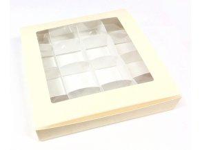 Krabička na pralinky 16 x 16 cm (na 16 kusů)