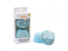 Košíčky na muffiny 36ks slon modrý - Decora