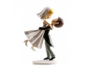 Svatební figurka na dort 16cm nevěsta ve vzduchu - Dekora