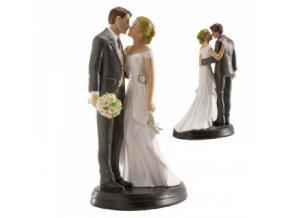 Svatební figurka na dort 18cm dokonalá láska - Dekora