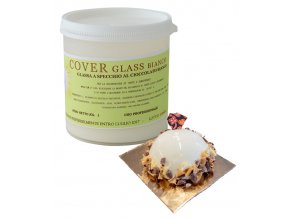 Potahovací  lesklý gel Cover Glass (bílá čokoláda) 1 kg/dóza