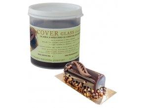 Potahovací  lesklý gel Cover Glass (hořká čokoláda) 1 kg/dóza