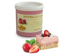 Krém hotový Novella jahodový 1 kg/kbelík