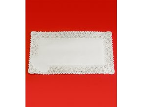 Krajka leštěný papír 45x55cm (bílá) 100 ks/bal