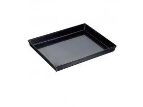 Plech na pečení modrý kov okraj 45° 30x23cm, v.3cm