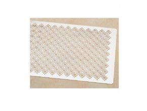 Šablona na dekoraci plátů (kosodélníky) 60x40cm, nerez