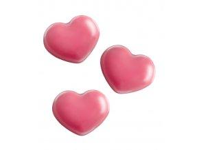 Čokoládové srdce Hearts 1,8x1,4cm (růžové) 320 ks/bal (248g)