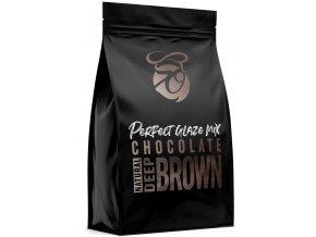 Zrcadlová poleva v prášku Perfect Glaze Chocolate Mix Deep Brown (300 g)