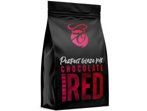 Zrcadlová poleva v prášku Perfect Glaze Chocolate Mix Red (300 g)