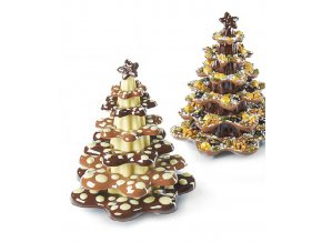 Forma na čokoládu sada 5 ks (stromeček 500g) 9 tvarů/5 forem