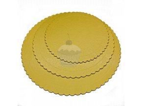 sada 3ks podlozky pod dort zlate kulate