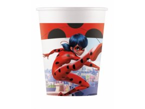 miraculous partybecher ladybug becher 8 stuck rot weiss 200ml