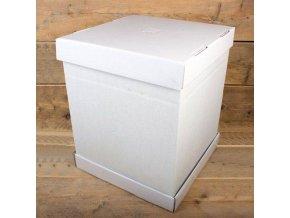 Dortová krabice na patrový dort pevná 37x37x45cm - FunCakes