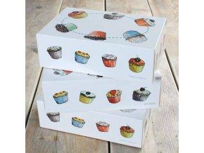 Papírová krabička na 6 capcakes 3ks krabic - FunCakes