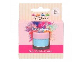 Prachová barva 4g světle modrá - FunCakes