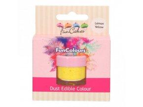 Prachová barva 4g žlutá - FunCakes