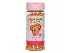 Cukrové hvězdičky zlaté 50g - FunCakes