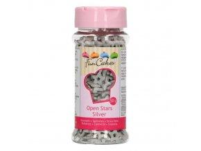 Cukrové hvězdičky stříbrné 50g - FunCakes