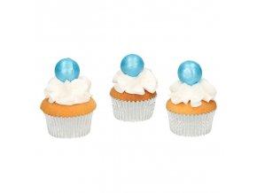 FunCakes pearl choco balls blue - modré - 8ks