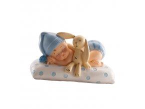 Figurka na dort spící miminko chlapeček - Dekora