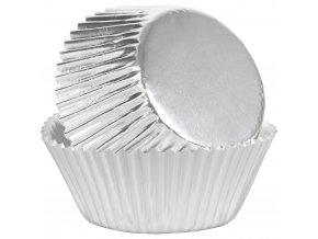 Papírové košíčky na muffiny 24 ks, STŘÍBRNÉ POHLAZENÍ