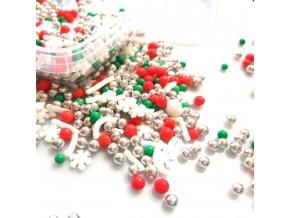 Vánoční dekorační sypání z Anglie: RED CHRISTMAS 50g