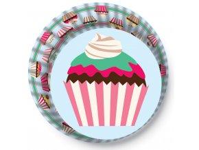 Alvarak košíčky na muffiny Modré s cupcaky (50 ks)