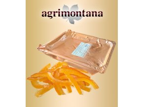 Pomerančová kůra Agrimontana, řezy kalibrované 6x70-90mm 2,5 kg/vanička vakuum