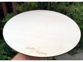 Extra pevný dřevěný tác pod dorty - 30 cm