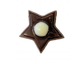 Čokoládová hvězda Syrius 3D v.2,8cm (hořko-bílá) 360 ks/bal (454g)