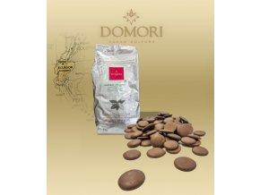 Čokoláda Domori ARRIBA Ecuador 36% mléčná (pecky) 5 kg/pytel