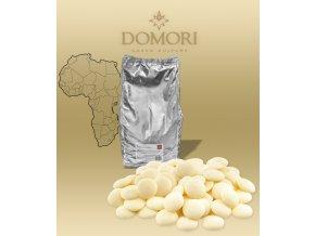 Čokoláda Domori Biancolatte 35% natural vanilka bílá (pecky) 1 kg/sáček alu