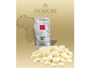 Čokoláda Domori Biancolatte 35% natural vanilka bílá (pecky) 5 kg/pytel