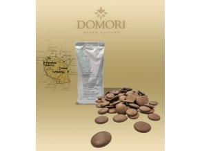 Čokoláda Domori MOROGORO Tanzania 38% mléčná (pecky) 1 kg/sáček alu