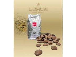 Čokoláda Domori MOROGORO Tanzania 38% mléčná (pecky) 5 kg/pytel