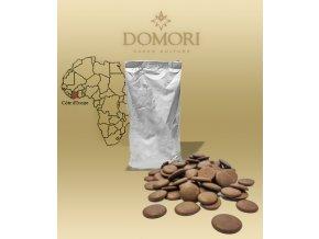 Čokoláda Domori Pobřeží slonoviny 38% mléčná (pecky) 1 kg/sáček alu
